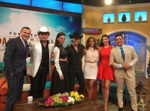 Livia, José Manuel y Julián Figueroa causaron revuelo en Univision
