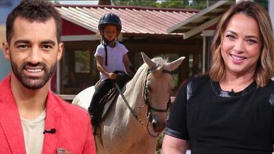 Hija de Toni Costa y Adamari López derrite de ternura en esta entrevista donde montó su caballo como profesional