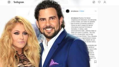 Jerry Bazúa arremete contra su ex Paulina Rubio para defender a Colate, otro ex de la 'Chica dorada'