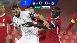 Liverpool choca con un muro y Real Madrid avanza a Semifinales