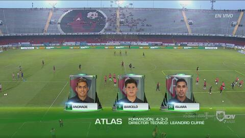 Alineaciones confirmadas de Veracruz y Atlas para el duelo de la Jornada 13