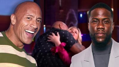 'The Rock' interrumpe su luna de miel para suplir a su amigo Kevin Hart en un show porque está convaleciente