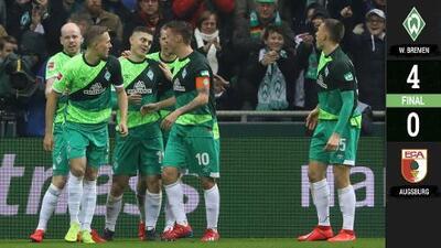Goleada del Werder Bremen frente al Augsburgo