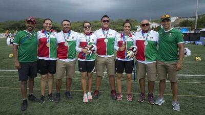 México y Colombia se reparten los oros en tiro con arco por equipos de JCC