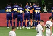 Jugadores de Boca dedican gol y la hija de Maradona rompió en llanto
