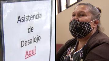 """""""Hay una salida, sí se puede"""": Madre de tres que enfrenta desalojo y recibe asesoría legal en la clínica del precinto 1"""