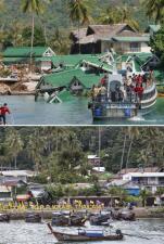 Imágenes a 10 años del tsunami del 2004