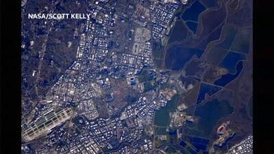 Tres fotos del Super Bowl tomadas desde la estación espacial