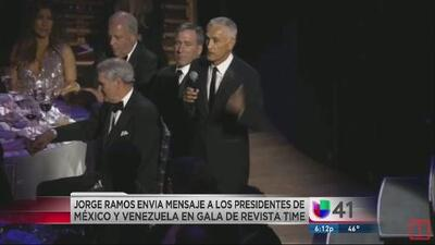 Jorge Ramos pide renuncia de Peña Nieto y liberación de Leopoldo López