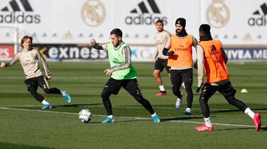 Hazard, Bale y Rodrygo, descartados para el derbi de Madrid