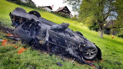 VIDEO: Accidente de Richard Hammond a bordo del Rimac Concept One en Suiza