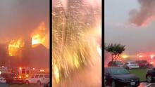 Caen dos rayos en unos apartamentos y provocan voraz incendio en el noroeste de Houston