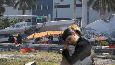(VIDEO) Seis muertos confirmados tras colapso de puente en Miami