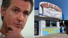 Restaurante desafía restricciones por covid-19 y alude a donde cenó Gavin Newsom