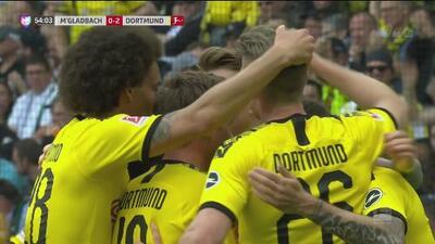 Asistencia de Pulisic y Reus marca el 2-0 para el Dortmund
