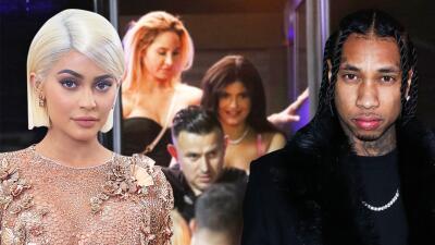 Noche de reencuentros: Kylie Jenner volvió a coincidir con Tyga y Khloé Kardashian con Lamar Odom