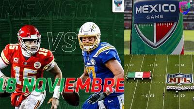 El partido entre Chiefs y Chargers en la CDMX se jugará en MNF