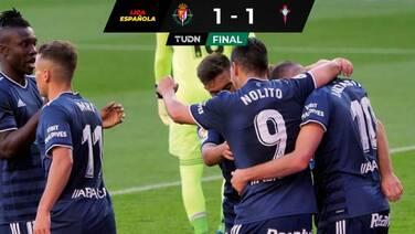 Con Néstor Araújo en el final, el Celta igualó con Valladolid