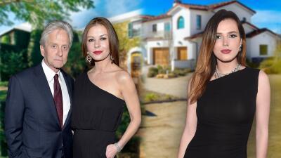 Michael Douglas y Catherine Zeta-Jones quieren $10 millones por una mansión (y Bella Thorne pagó $3 por la suya)