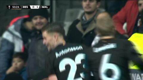 ¡GOOOL! Marcus Antonsson anota para Malmö FF