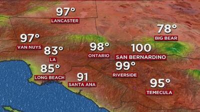 Cielos soleados y condiciones secas, el pronóstico del tiempo para este viernes en Los Ángeles