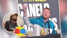 """(Video) """"¡Sal de aquí!"""": Canelo es retado por otro boxeador en plena rueda de prensa y él responde"""