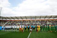 Soccer Football - Under-20 World Cup - Group E - France v Saudi Arabia - Stadion GOSiR, Gydnia, Poland - May 25, 2019 France and Saudi Arabia players line up before the match REUTERS/Kacper Pempel
