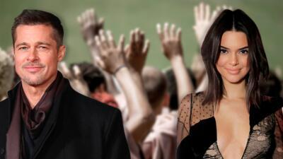 Brad Pitt puso nerviosa a Kendall Jenner y ella salió corriendo de un servicio dominical
