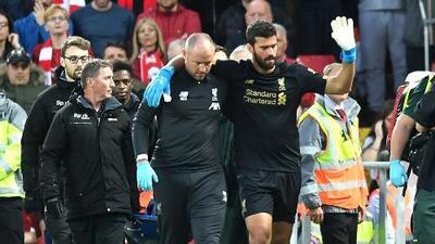 Alisson será baja de cuatro a ocho semanas con el Liverpool