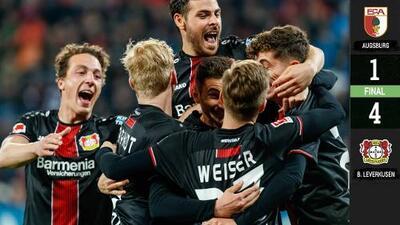 Una vaselina imposible rubrica la goleada del Leverkusen sobre el Augsburg