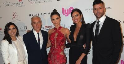 Desfile de estrellas latinas en la gala organizada por Ricky Martin y Eva Longoria
