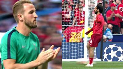 El corazón palpita más fuerte: ya calientan Liverpool y el Tottenham en el Wanda Metropolitano