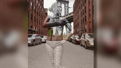 Una artista de NY hace 'desaparecer' a sus modelos con body painting