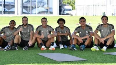 """Cristiano Ronaldo vivió su primer y """"duro"""" entrenamiento con la Juventus"""