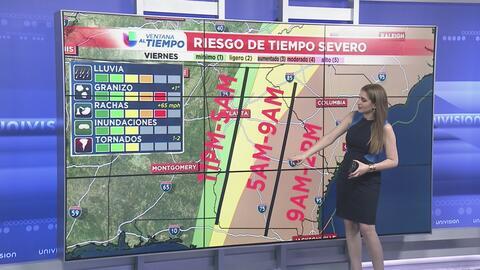 La línea de tormentas dejará Georgia en horas de la tarde del viernes
