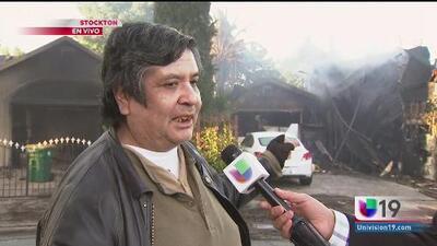 Hablan afectados por el incendio en Stockton