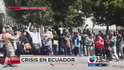 Cubanos en Ecuador se manifiestan para pedir visas humanitarias