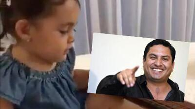 Julión Álvarez presume video de su hija tratando de tocar la guitarra