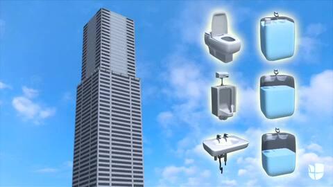 Cómo se manejan los desechos del baño en los edificios más altos del mundo
