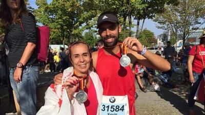 """Yo no corro una maratón si no la corro con mi hijo"""