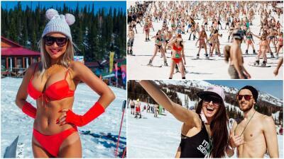 ¡No hay frío que valga! Cerca de 2.000 personas imponen el récord de descenso en vestido de baño