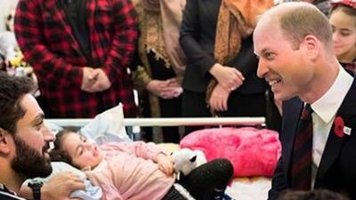 El príncipe William sorprende a niña de 5 años sobreviviente del atentado en Nueva Zelanda que despertó de un coma