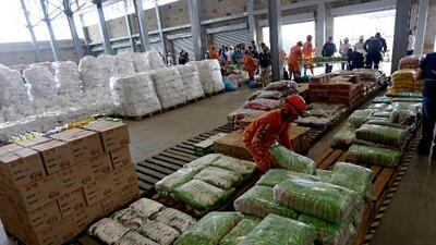 En esta bodega de Cúcuta se encuentran los alimentos y medicinas destinados a ayudar a los venezolanos