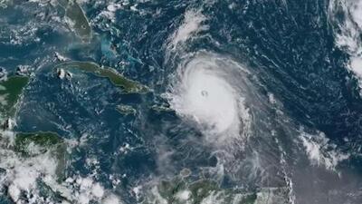 Nuevas imágenes satelitales muestran el paso de María cerca de República Dominicana