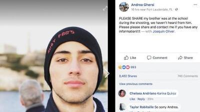 El relato en las redes sociales de la tragedia de Joaquín Oliver, muerto en el tiroteo