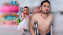 No estaba crudo, pero sí lesionado: Larry Hernández le cumplió a su hija menor el día de su bautizo