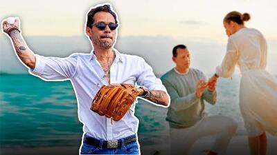 Así Marc Anthony juega béisbol luego del compromiso de JLo con el expelotero A-Rod