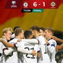 Alemania gusta y golea ante Irlanda del Norte