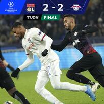 Empate salvador del Lyon con boleto a Octavos de la Champions League