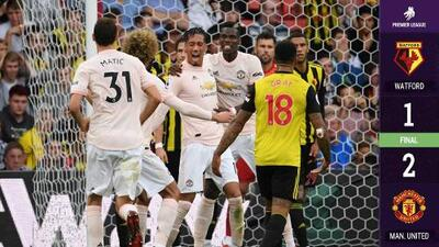 ¡Mourinho respira! El Manchester United suda la gota gorda para derrotar al Watford